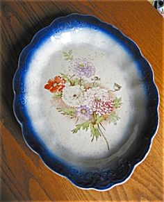 Antique Flow Blue Platter (Flow Blue) at More Than McCoy