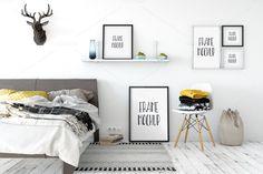 Frame mockup, Poster mock-up,  Product Mockups,  Canvas Mockup, Presentation art work, scandinavian style by YuriUDesign on Etsy