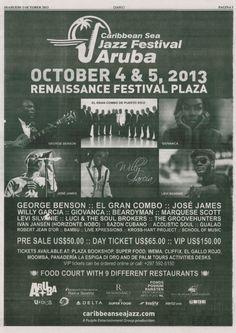 Página entera de promoción del festival periódico 'Diario' Aruba - 3 de octubre.