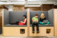 Sqaure Square | an electronic payment service that allows users to accept credit cards using their mobile phones. Here, workers at Square put their feet up in the little cabanas at their offices.