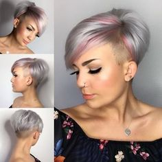 [Werbung] I should be at a wedding with my zark now - All For Little Girl Hair Short Grey Hair, Short Hair Cuts For Women, Short Hairstyles For Women, Short Hair Styles, Curly Short, Hairstyle Short, Short Pixie Haircuts, Pixie Hairstyles, Cool Hairstyles