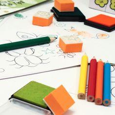Meadow Kidsoriginální výtvarná sada s razítky Zahrada pro tvoření s pomocí razítek a otisků prstů.