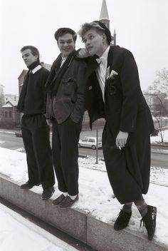 Jetzt! - Michael Girke, Oliver Mills, Mijk van Dijk - Berlin 1987 - Foto: Andrea Brehme