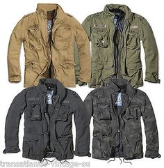 M65 JACKET MENS WINTER MILITARY PARKA US ARMY BRANDIT JACKET WARM LINER ZIPS OUT