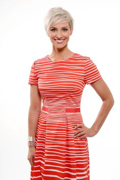 Tv-presenter Anne Rimmen wearing cuffs from Cooee