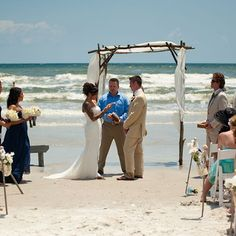 Real Weddings - In Bliss Weddings. The beach ceremony was Natalie's favorite part of their wedding day.