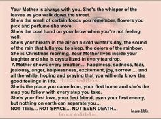 Nothing can separate us from our mother's love.