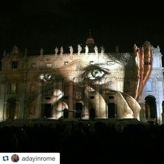 Amazing show #fiatlux #vatican #jubilee #rome @adayinrome