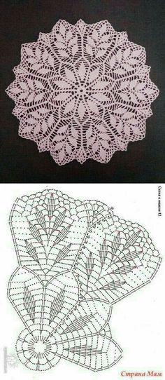 Free Crochet Doily Patterns, Crochet Doily Diagram, Crochet Flower Tutorial, Crochet Doilies, Crochet Flowers, Thread Crochet, Diy Crochet, Crochet Organizer, Crochet Tablecloth