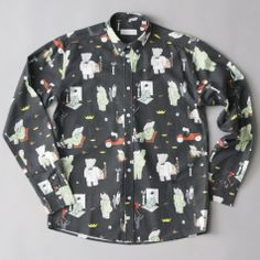 Soulland BaBar Paris Shirt L/S - Black