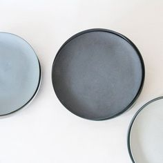 Plates porcelain gray set by GoldenBiscotti on Etsy, 150.00: