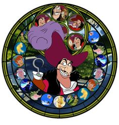 Stained Glass Disney | Stained Glass Captain Hook by ~IlSelma