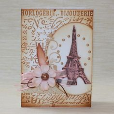 IlonaK2 I Card, Paris, Frame, Decor, Clock Art, Picture Frame, Montmartre Paris, Decoration, Paris France