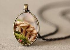 Mushroom Pendant Mushroom Jewelry Mushroom by NatureMandalas