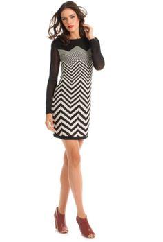 Sharyn Dress. Chevron pattern.  So flattering.