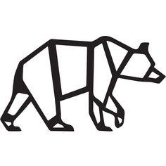 858371dbf Geo-Bear Geometric Bear, Coreldraw, Metal Wall Decor, Nursery Modern, Metal