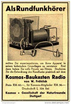 Original-Werbung/ Anzeige 1931 - KOSMOS BAUKASTEN RADIO - ca. 70 x 100 mm