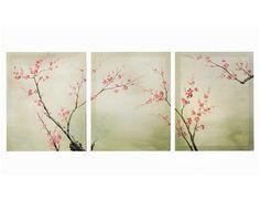 tryptique 'branches de cerisier' de cosy déco