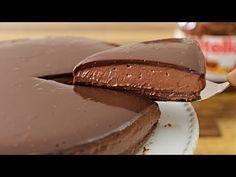 The Cooking Foodie: Tasty and easy to make no-bake Nutella cheesecake. This recipe doesn't require gelatin. If you a Nutella lover you must try this cheesecake recipe. No Bake Nutella Cheesecake, Mango Cheesecake, Cheesecake Recipes, Cookie Recipes, Dessert Recipes, Nutella Cake, Nutella Pizza, Homemade Nutella Recipes, Nutella Recipes