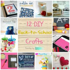 diy back to school | DIY-Back-To-School-Crafts-Roundup-TheTurquoiseHome.com-Collage