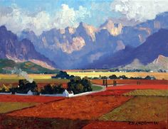 Artwork of Roelof Rossouw exhibited at Robertson Art Gallery. Original art of more than 60 top South African Artists - Since Blue Artwork, Cool Artwork, Abstract Landscape Painting, Landscape Paintings, V&a Waterfront, Blue Boat, South African Artists, Original Art, Art Gallery