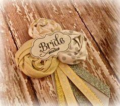 Silver & Gold Bridal Badge