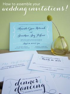 assembling wedding invitations to mail to guests  |  you have your pretty #weddinginvitations but how do put them together to send?  here you go!