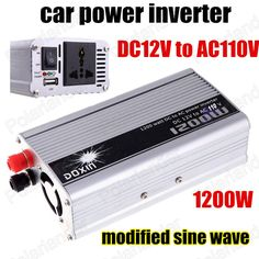 Car Power Inverter Converter 1200W DC 12V to AC 110V USB Adapter Voltage Transformer Chargers Modified Sine Wave