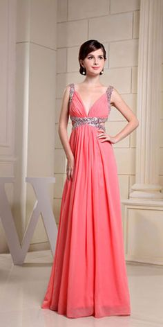 47323a1efd9 Buy brand new watermelon beaded long wedding party dresses with cutout from  fashion party dresses collection