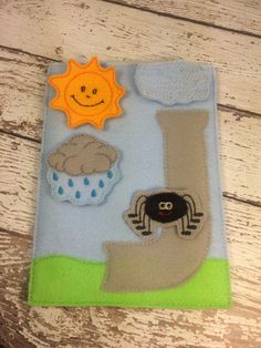 Itsy Bitsy Spider Song board, quiet book, busy bag, felt board, flannel board, toddler and preschool toy