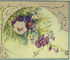 Language of Flowers Vintage Postcard Snowdrops by TheOldBarnDoor