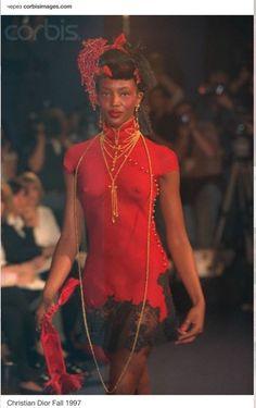 Naomi Campbell John Galliano Spring 1995