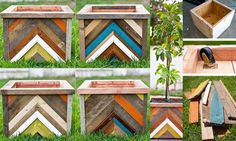 DIY & Home Project. If you want to grow some plants or vegetables in your yard, first you are going to need some good planter boxes. DIY planter box designs, plans, ideas for vegetables and flowers Diy Wood Planter Box, Planter Box Designs, Bird Bath Planter, Square Planter Boxes, Planter Box Plans, Diy Planters, Porch Planter, Planter Ideas, Garden Planters