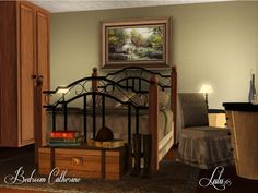 Bedroom Catherine by Lulu265  http://www.thesimsresource.com/downloads/1167491