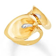 Lily Ring 14K Two-Tone Gold