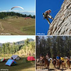 Are you looking for adventure activities in Jammu and Kashmir? Well, Sanasar - situated at an elevation of 2050 meters, a remote and quaint hill station near Patnitop in the state of Jammu and Kashmir that offering various activities such as Paragliding, Rock Climbing, Hot Air Ballooning, Abseiling, Trekking, Camping, and Horse Riding. And it is one of the best places to visit in India to enjoy a peaceful holiday away from the boisterous crowds of cities. Abseiling, Adventure Activities, Hill Station, Paragliding, Rock Climbing, Horse Riding, Cool Places To Visit, Trekking, The Good Place