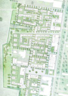 Machleidt, sianai & performative architektur (2015): 1:500, Rahmenplan Zukunft Nord, Karlsruhe (DE), via competitionline.com