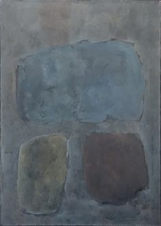 Rollin Crampton, Three Stones, 1960 Oil on canvas, 42 x 30 inches