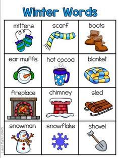 Winter Words Booklet by Laura Martin Winter Fun, Winter Theme, Preschool Lessons, Preschool Activities, Winter Words, Winter Activities, Preschool Winter, Kindergarten Literacy, Language Activities