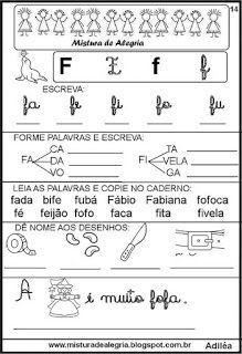 Livro famílias silábicas-letra F