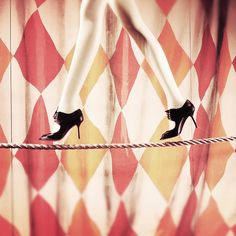 every girl needs to be able to walk a tight rope in high heels