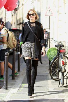 Olivia rocking tweed. #OliviaPalermo in Paris