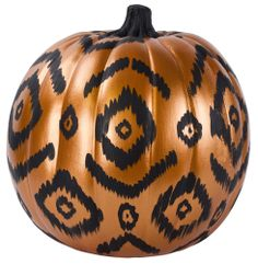 DecoArt® Ikat Pumpkin #halloween #craft #pumpkin #pumpkindecorating