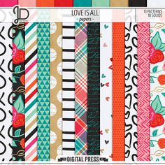 Love Is All | Papers by Juno Designs