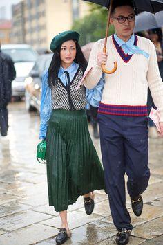 Yoyo Cao in Gucci   - HarpersBAZAAR.com