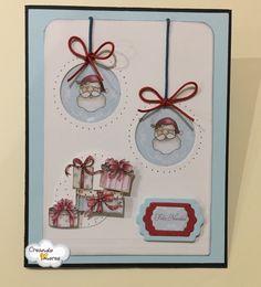 #Tarjeta con regalos #navideños y motivos de #SantaClaus #CreandoAmoresLive