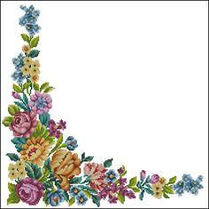 Esquema de ponto-cruz esquema de padrões de lancis flores toalha de mesa
