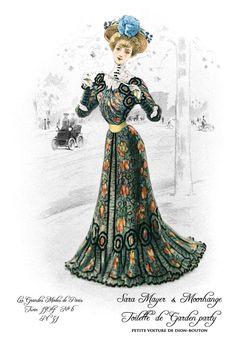 Vintage French Ephemera Fashion Plate 1904