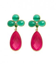 Pendientes Atenea Fucsia.  Pendientes de Fiesta.  Y como sabéis... ¡todas nuestras joyas son PERSONALIZABLES!  Consúltanos!! ☺