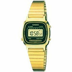 LA670WGA-1D Ladies Gold Tone Digital Watch RETRO:Amazon:Watches